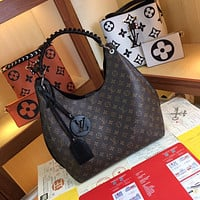 LV Louis Vuitton Women's Tote Bag Handbag Shopping Leather Tote Crossbody Satchel 35*40*17CM