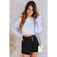 Honest And Upfront Puff Sleeve Sweater (Ice Blue)