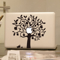 Apple tree- Decal laptop Stickers macbook decal macbook pro decal macbook air decal 1173