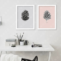 Wall Posters For Living Room Echinacea Fruit Nordic Decoration Wall Painting Canvas Art Print Wall Pictures Frame not include