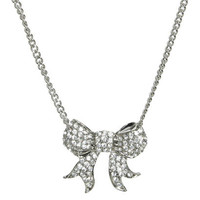 Glam Rhinestone Bow Necklace | Shop Junior Clothing at Wet Seal