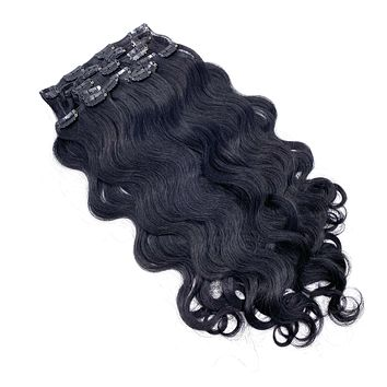 """100% Remy Human Hair Clip Extensions/ Body Wave  18"""""""