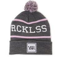 Young & Reckless Lane Change Pom Beanie - Womens Hat - Gray - One