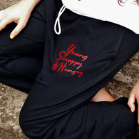 Young, Scrappy and Hungry Sweatpants. Hamilton Inspired Lounge Pants. Alexander Hamilton. Unisex Adult Sweatpants. Drawstring Waistband.