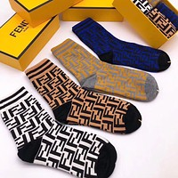 Fendi Men Cotton Knitwear Socks Stockings