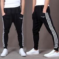 Workout Jogging Pants Men Striped Sport Sweatpants GYM Training Running Pants Men Fitness Joggers Bodybuilding Crossfit Trousers