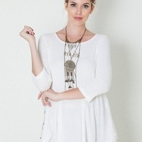 Back Roads Laced Rib Knit Top (More Colors!)
