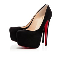 DAFFODILE VEAU VELOURS,BLACK,Suede,Louboutin,Women Shoes
