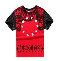 DREAM ON RED TEE