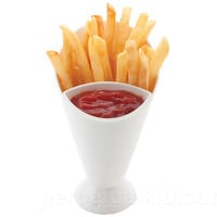 French Fry Cone And Dip Container Makes One Handed Snacking Easier