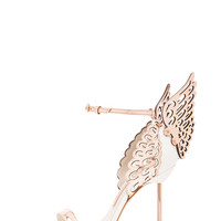 Sophia Webster | Evangeline Leather Heels in Rose Gold & White www.fwrd.com