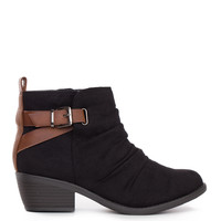 Kira Buckle Booties - Black