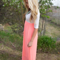 Perfectly Paired Maxi Dress - Pink