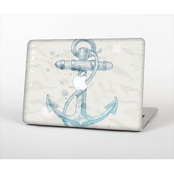 """The Vintage White and Blue Anchor Illustration Skin Set for the Apple MacBook Pro 13"""" with Retina Display"""