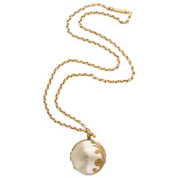 Wrapped Rock Crystal Ball Pendant