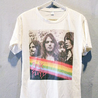 Pink Floyd Shirt Progressive Rock Women T-Shirt Off White Size S