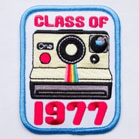 Class of 1977 Instant Film Camera Embroidered Patch