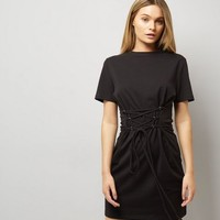 Black Corset T-Shirt Dress