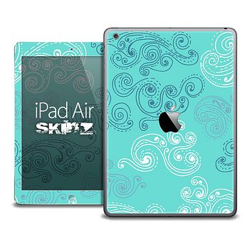The Designed Turquoise Swirly Skin for the iPad Air