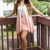 Ombre Strappy Swing Sundress