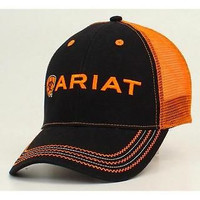 Ariat Rumblin Black Orange Mesh Back Cap