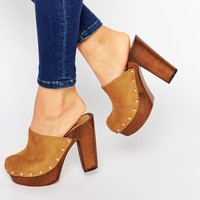 Missguided Heeled Clogs