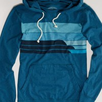 AEO Men's Striped Hoodie Tee (Washed Olive)