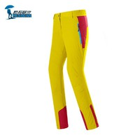 Protective Patchwork Waterproof Softshell Hiking Pants Women Windbreak Sports Trousers For Women Outdoor Camping Ski Climbing