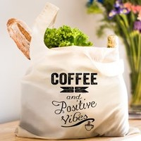 Coffee and Positive Vibes Reusable Shopping Bag> Coffee and Positive Vibes> Sheldon To Mr Darcy Art by Alice Flynn