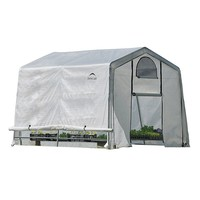 ShelterLogic GrowIt Greenhouse-In-A-Box 8' x 10' x 10' Easy Flow Peak Top Greenhouse (White)