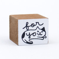 Happy Cat Day For You Rubber Stamp