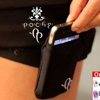 Cell Phone Case for iPhones & Samsung Galaxy S. II with Adjustable Leg Strap (BLACK) is Comfortable, Convenient and Sexy by Partie Poche + FREE Breo Watch:Amazon:Cell Phones & Accessories