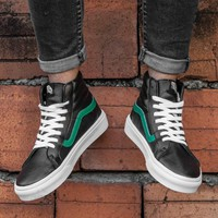 Vans The classic black green high help casual shoes