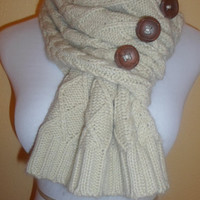 Diamond Cable Knit Scarf