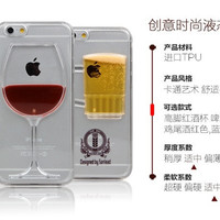 4.7 inch mobile phone protective cover 3D hourglass wine glass sand mobile phone cover case