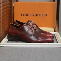 DCCK LV Louis Vuitton Man  Fashion Casual Shoes Leather Shoes