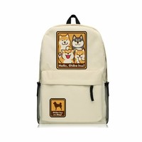 Hello Shiba Inu Doge Backpack Oxford Shoulder Bags Teenagers Doge SHIBA INU Backpack School Bag Boys Mochila