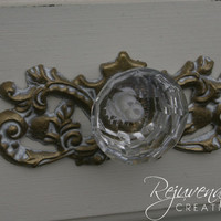 1 - Shabby Chic applique / back plates / knob backplates / hardware accessories / furniture mouldings / architectural pieces / onlays