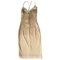 Silk mid-length dress D&G Ecru