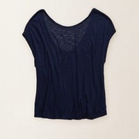AERIE LOW BACK TEE