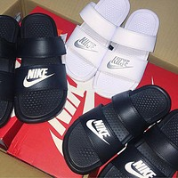 NIKE Casual Fashion Solid Color Flats Slipper Sandals Shoes F