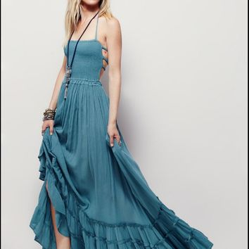 Maxi Dress Sexy Backless Prom Dress One Piece Dress [11601248282]