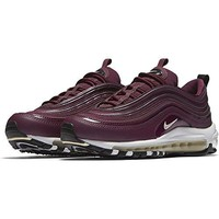 NIKE Women's W Air Max 97 PRM, Bordeaux/muslin-Black