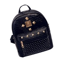 Women Leather Travel Backpack School Backpacks Mochila