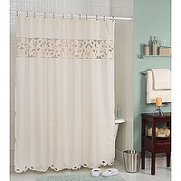Essential Home Shower Curtain Enchanted Rose Fabric