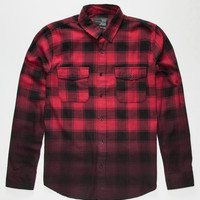 Blue Crown Dip Mens Flannel Shirt Red  In Sizes
