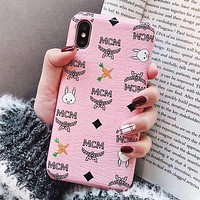 MCM Fashion iPhone Phone Cover Case For iphone 6 6s 6plus 6s-plus 7 7plus 8 8plus iPhone X XR XS XS MAX