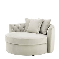 Round Pebble Gray Sofa | Eichholtz Carlita