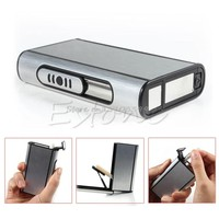 Metal Box Aluminum Pocket Cigarette Case Automatic Ejection Holder Drop shipping #G205M# Best Quality