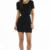 Reese Bodycon in Black Jersey